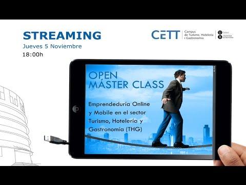 Open Màster Class CETT Emprenedoria Turística i Online 2015