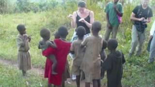 Uganda - Meeting local kids on a walk through Tea Plantations near Fort Portal
