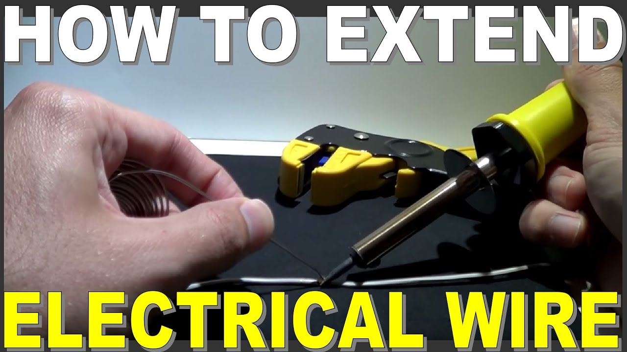 how to extend electrical wiring then joining it youtube rh youtube com