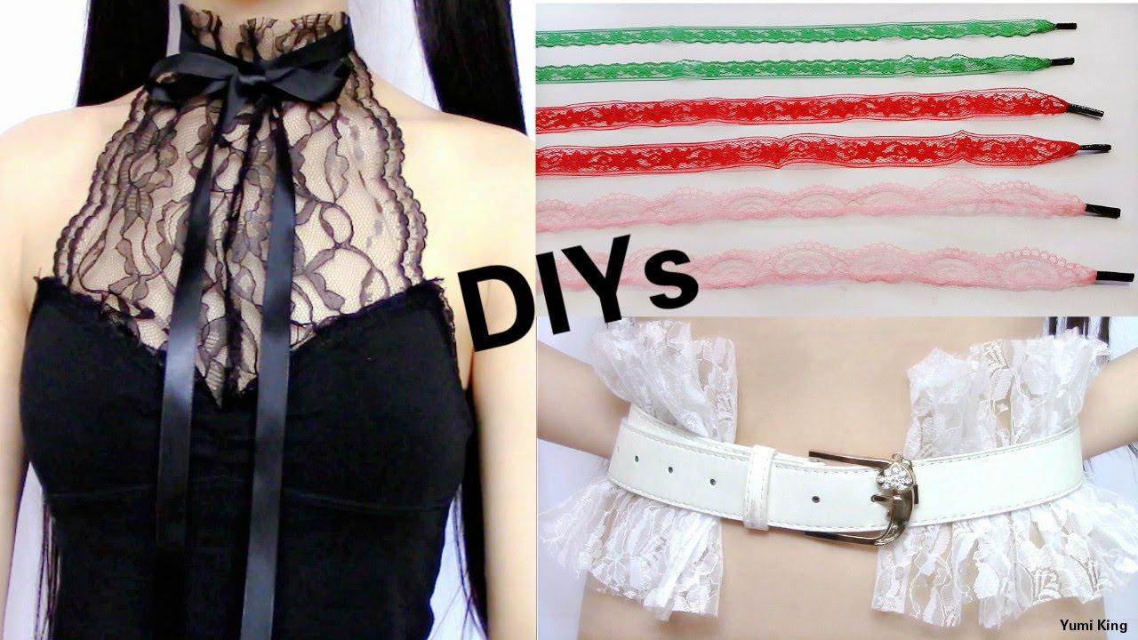3 Creative Lace DIYsDIY Lace Halter Top + DIY Lace Shoelace +