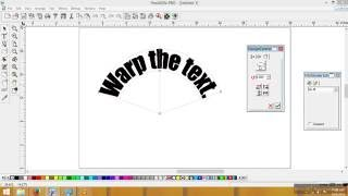 How to curve the text in Flexi Sign Pro Distort the text warp