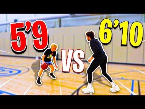 INTENSE 1v1 Against 6'10 Pro Basketball Player!