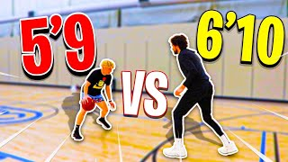 INTENSE 1v1 Against 6'10 Pro Basketball Player!