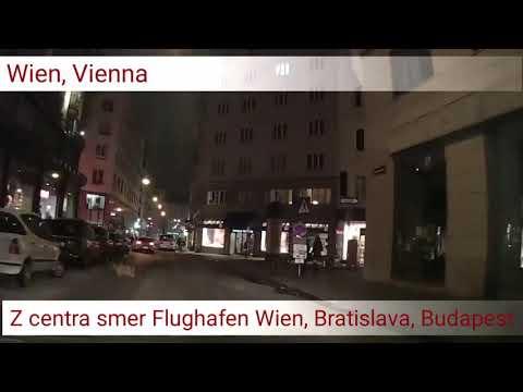 Wien, z centra smer Flughafen, Bratislava, Budapest