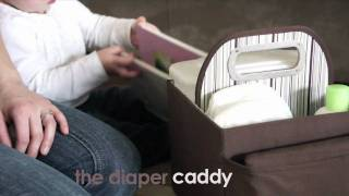 Jj Cole Diaper Caddy - Versatile Changing Station For Baby