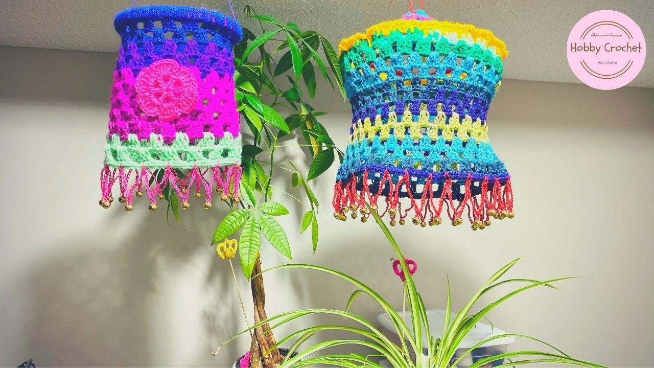 Móbil o lampara a crochet paso a paso (Versión Diestra)