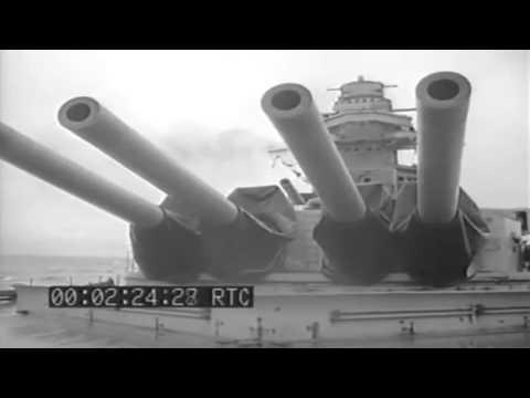 WW2 French Battleship Richelieu, Suez, Canal 1944 (full)
