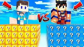 BETO VS DAVI: DESAFIO CUBO DE LUCKY BLOCK NO MINECRAFT!!
