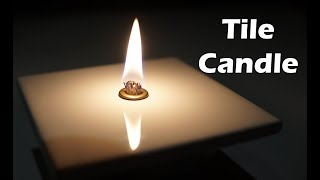 How to Make an Oil Candle with a Tile or Rock