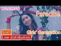 Girls' Generation snsd - Paradise - Line Distribution (color Coded Live) video