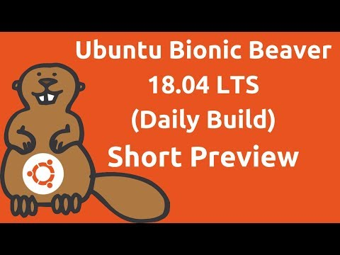 What's New On Ubuntu Bionic Beaver 18.04 LTS Daily Build