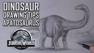 Dinosaur Drawing Tips. Featuring Apatosaurus from Jurassic World + Thankyou to my new Subscribers
