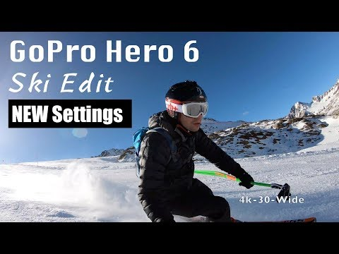 GoPro Hero 6 Glacier Ski Edit and test of NEW settings