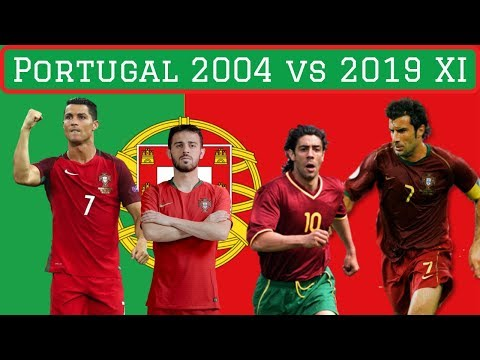 Portugal Euro 2004 vs Portugal Nations League 2019 XI