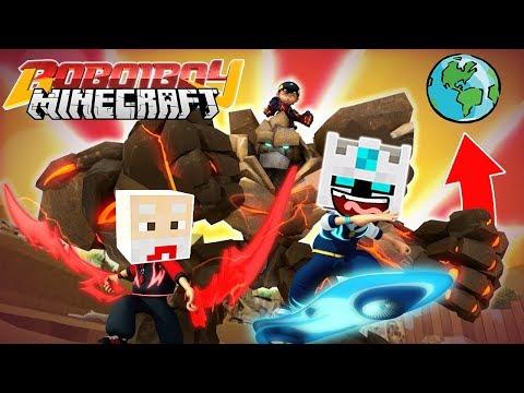 MENYELAMATKAN YAYA DI BULAN BOBOIBOY GALAXY KUASA 8! - Boboiboy Minecraft 3