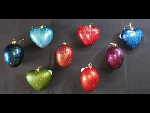 Making beautiful Glass Ornaments with Primary Elements #Colourarte #Glassornaments #acrylicpouring