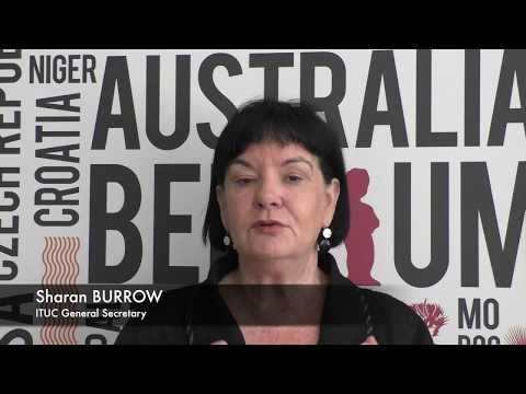 Sharan Burrow, ITUC, on why social dialogue is the best way to combat deficits on labour markets