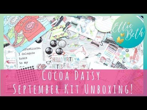 Cocoa Daisy September Kit Unboxing! So. Pretty.
