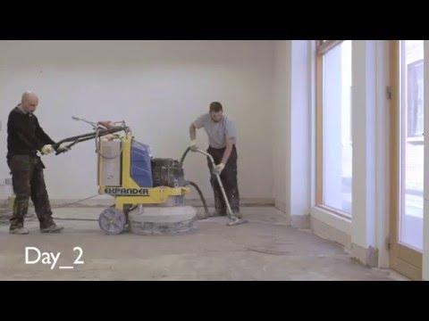 Concrete Polishing, polishing an old concrete floor | P Mac
