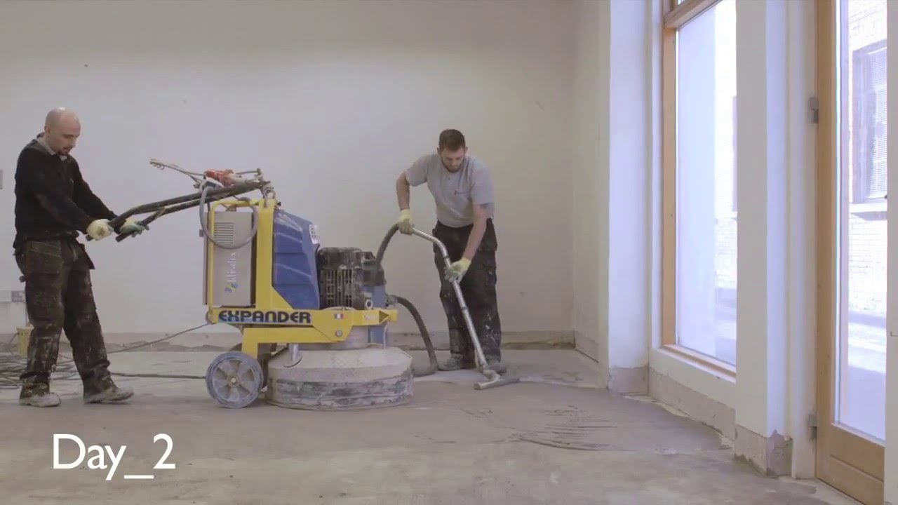 Concrete polishing polishing an old concrete floor p - Concrete floors in home ...