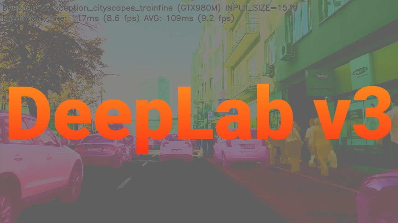 Tensorflow DeepLab v3 Xception Cityscapes