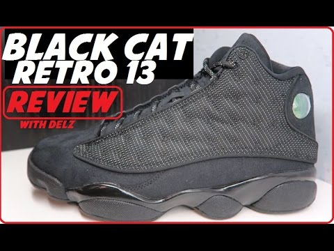 916b1e839bffcd AIR JORDAN 13 BLACK CAT RETRO 2017 SNEAKER DETAILED REVIEW - YouTube