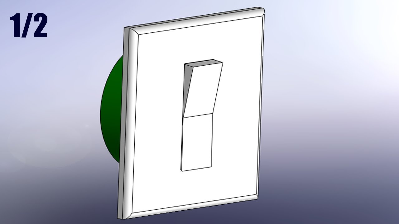 SolidWorks Tutorial #121: Light Switch (3parts) pt1/2 - YouTube