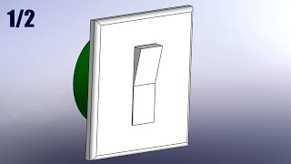 SolidWorks Tutorial #121: Light Switch (3parts) pt1/2