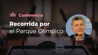 El presidente Mauricio Macri recorrió el Parque Olímpico en Villa Soldati