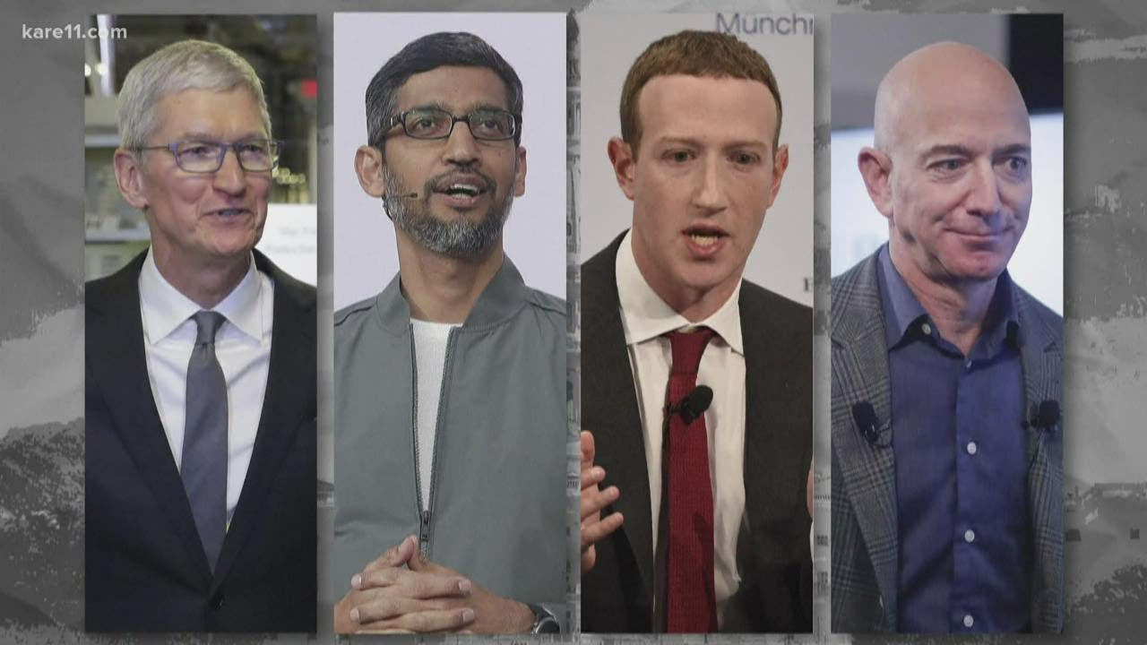 Four Big Tech CEOs take heat from Congress on competition