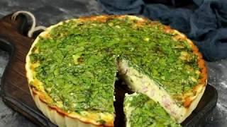 Пирог со шпинатом и ветчиной