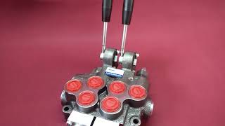 Monoblock Directional control valve 2 section (double way)  60 l/min 12V 16 gpm video