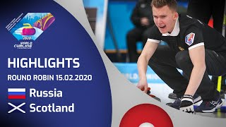 HIGHLIGHTS: Russia v Scotland - Men's round robin - World Junior Curling Championships 2020