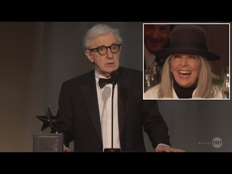 Woody Allen Roasts Diane Keaton as She Receives Lifetime Achievement Award