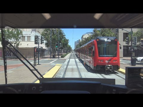 San Diego Trolley (Orange Line) Entire Line Ride - 6/18/17