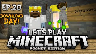 Survival Let's Play Ep. 20 (DD) - XP Farm & Mob Grinder!!! - Minecraft PE (Pocket Edition)