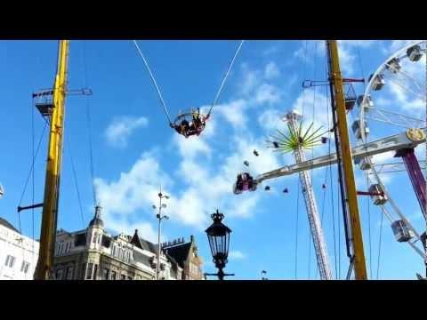 Amsterdam - Luna Park in Dam Square