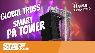 Global Truss F34 Smart PA Tower | PA aufhängen ohne Baubuch | Huss Expo 2019