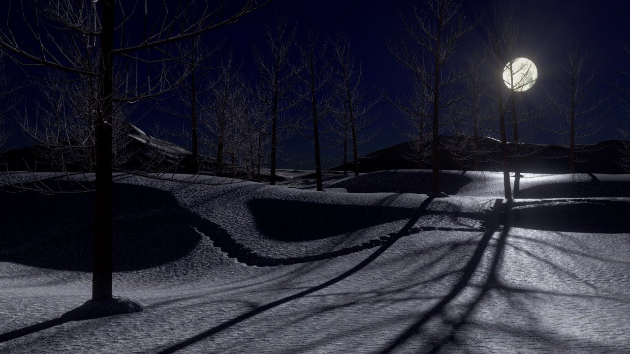 Fall The Sun Wallpaper Blender 2 72 Tutorial Create A Snowy Moonlit Landscape