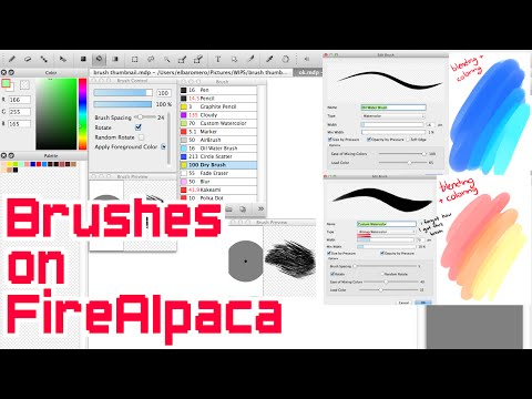 Brushes on FireAlpaca (Part 1)