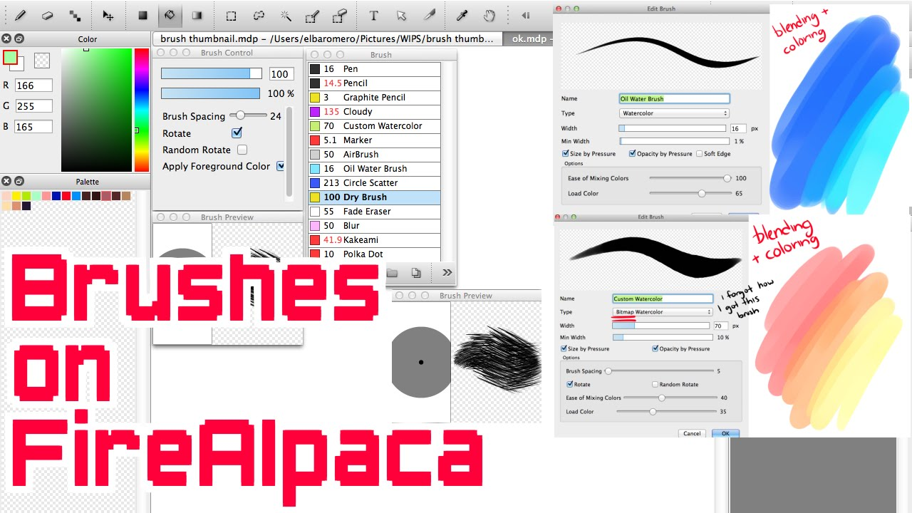 Firealpaca Marker Brush