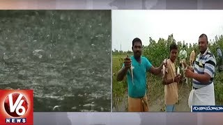 Farmers Rejoice As Heavy Rain Lashes Nizamabad District | Weather R...