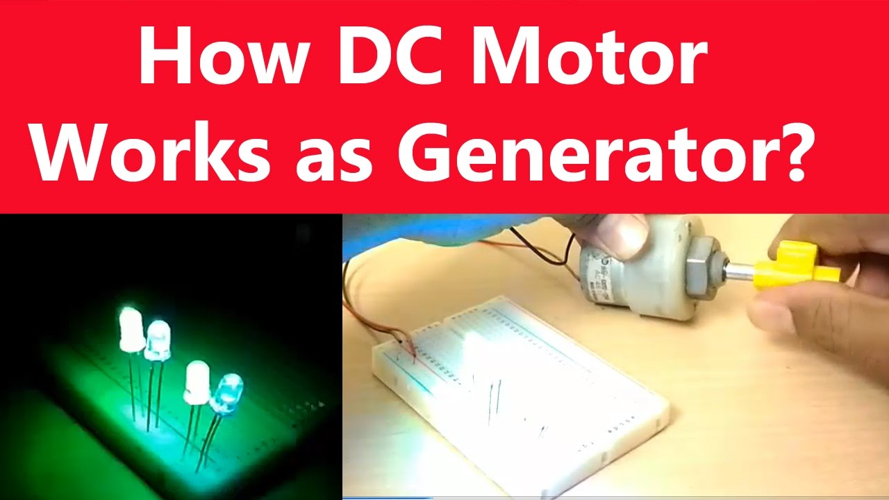 How Dc Motor Works As Generator Turn Into Electricity Power A Device That Changes Or Converts Mechanical Energy Youtube
