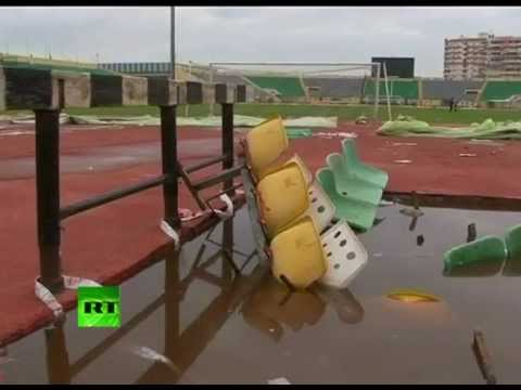 Video of deadly Egypt football riot aftermath at Port Said stadium