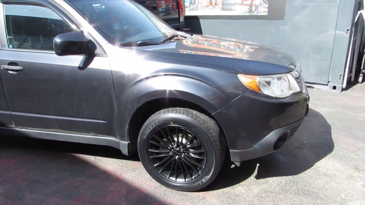 2010 subaru forester with 17 inch black rims tires youtube. Black Bedroom Furniture Sets. Home Design Ideas