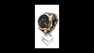 FOSSIL Grant 羅馬時標紳士皮革腕錶 FS5068
