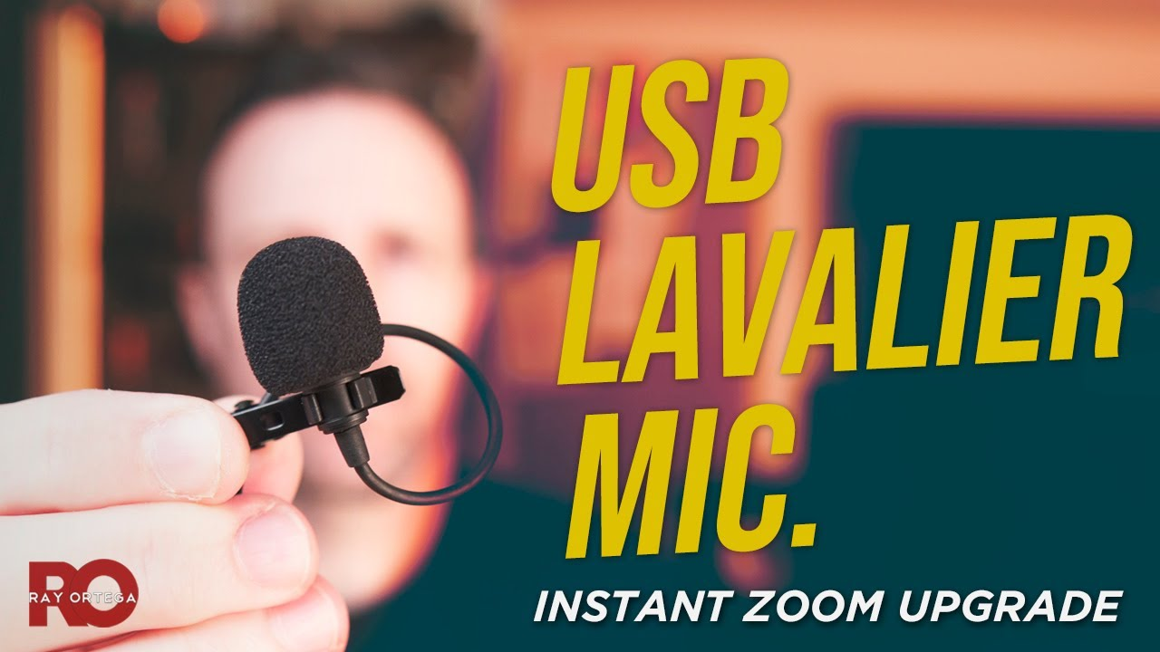 Easiest Way to Sound Great on Zoom - Saramonic USB Lav. Mic.