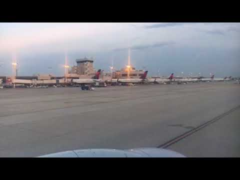 A Look At Atlanta Airport Delta Airlines Planes As Unified 737-800 Leaves Gate