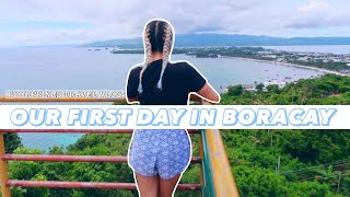 FIRST DAY IN BORACAY ✈️ PHILIPPINES TRAVEL VLOG - Vlog 36