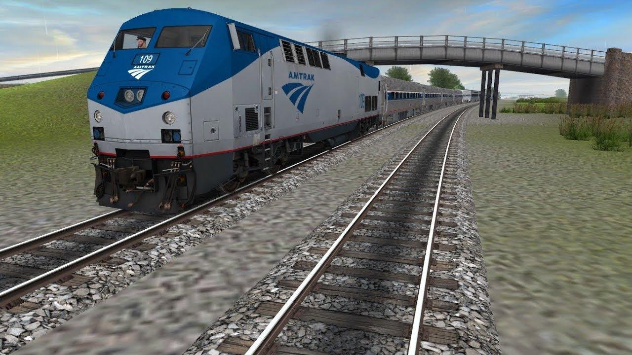Trainz :Amtrak GE P42DC K5LA w/ Engine Sound